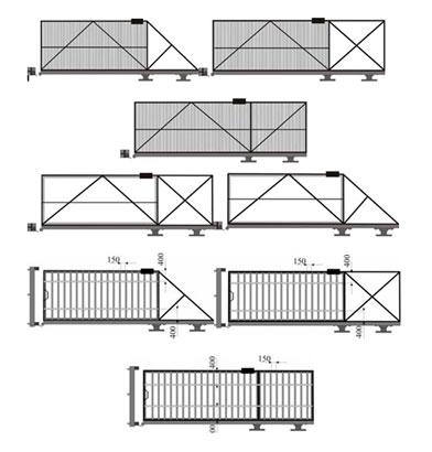 Примерная схема каркаса ворот