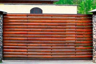 Автоматические ворота в гараж подъемные